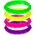 Neon Spike Rubber Bracelets 4ct