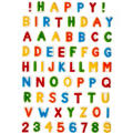 Letters and Numbers Icing Decorations 70ct