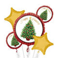 Foil Twinkling Tree Balloon Bouquet 5pc