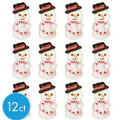 Snowman Icing Decorations 12ct