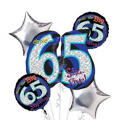 65th Birthday Balloon Bouquet 5pc - Oh No!