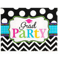 Bright Congrats Graduation Invitations 50ct