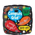 Foil Word Bubble Graduation Balloon 18in