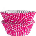 Pink Dot Circles Foil Baking Cups 36ct