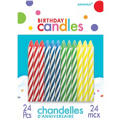 Primary Spiral Birthday Candles 2in 24ct