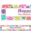 Bright Holiday Custom Christmas Banner