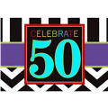 Celebrate 50th Birthday Invitations 8ct