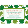 Shamrock Shimmer Custom Invitation