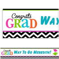 Custom Bright Congrats Grad Banner 6ft