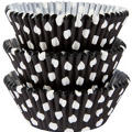 Black Polka Dot Baking Cups 75ct