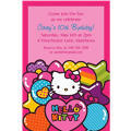 Hello Kitty Rainbow Custom Invitation