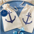 Anchor Muslin Wedding Favor Bags