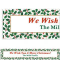Seasonal Holly Custom Christmas Banner