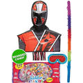 Pull String Red Power Ranger Pinata Kit