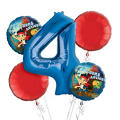 Jake and the Never Land Pirates 4th Birthday Balloon Bouquet 5pc