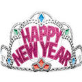New Years Princess Tiara 5 1/2in