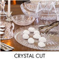 Crystal Cut Serving Trays, Bowls & Utensils