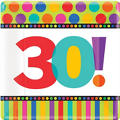 30th Birthday Dots & Stripes Party Supplies