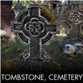 Halloween Tombstones & Cemetery Decorations