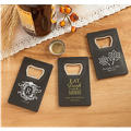 Personalized Credit Card Bottle Openers - Black <br>(Printed Plastic)</br>