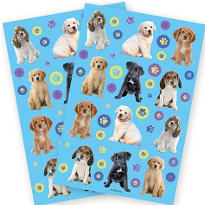Party Pups Stickers 2 Sheets