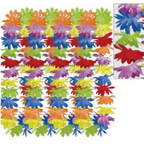 Rainbow Floral Leis 25ct