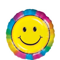 Foil Smiley Face Balloon 18in