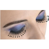 Black Beaded False Eyelashes