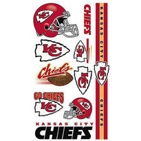 Kansas City Chiefs Tattoos 10ct