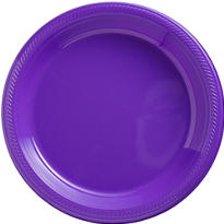 Purple Plastic Dinner Plates 20ct