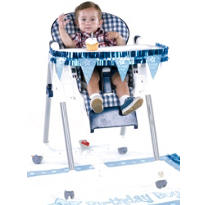Blue 1st Birthday High Chair Decorating Kit 2pc