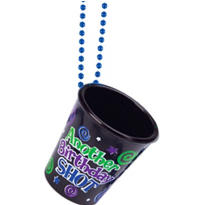Over the Hill Birthday Shot Glass Necklace
