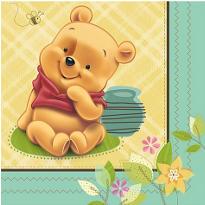 Pooh Baby Days Baby Shower Beverage Napkins 16ct