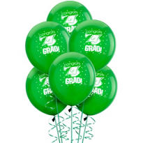 Green Latex Graduation Balloons 15ct