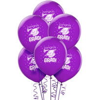 Purple Graduation Balloons 15ct