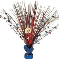 Patriotic Foil Spray Centerpiece 18in