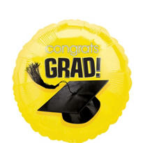 Foil Yellow Congrats Grad Graduation Balloon