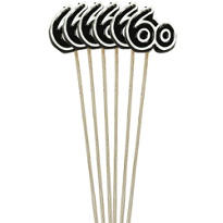 Number 60 Birthday Candles 9in 6ct