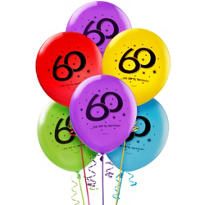 The Party Continues 60th Birthday Balloons