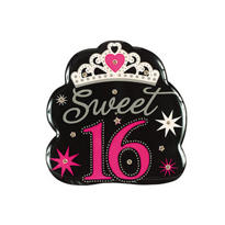 Sparkle Sweet 16 Light Up Button