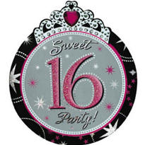 Sparkle Sweet 16 Invitations 8ct