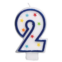 Number 2 Birthday Candle 3in