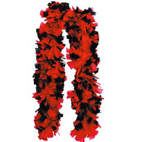Deluxe Red and Black Feather Boa 72in