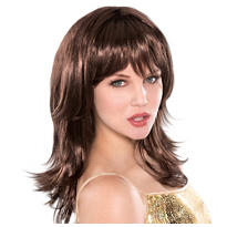 Feather Flirty Brunette Wig