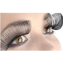 Black Jumbo False Eyelashes