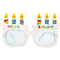 White Happy Birthday Sunglasses