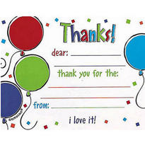 Balloon Scribble Thank You Notes 8ct