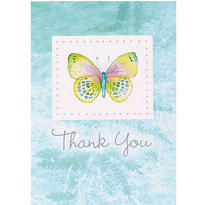 Delicate Butterfly Thank You Notes 8ct