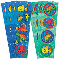 Underwater Friends Stickers 8 Sheets