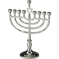 Traditional Menorah 7in